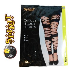Cutout Front Tights Plus